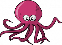 Moving clipart octopus