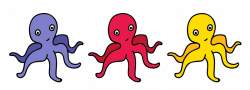 Cuttlefish clipart red