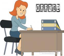 Desk clipart office worker