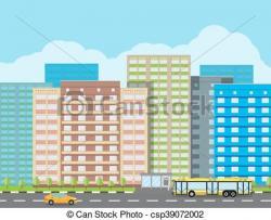 Urban clipart modern city