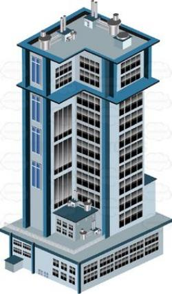 Skyscraper clipart apartment building
