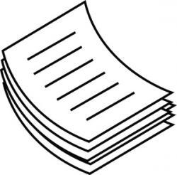 Paper clipart pile paper