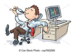 Relax clipart office worker