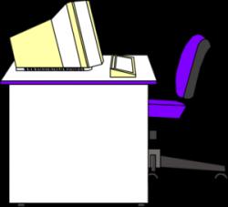 Office clipart office desk