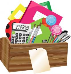 Crayon clipart office stationery