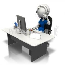Desk clipart secretary desk