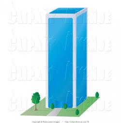 Skyscraper clipart glass building