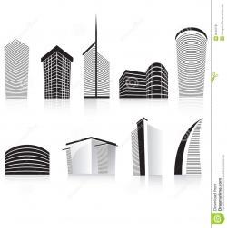 Skyscraper clipart building design