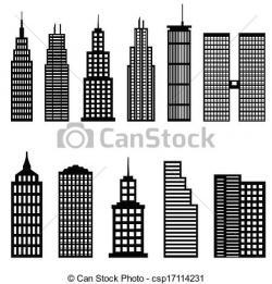 Skyscraper clipart simple