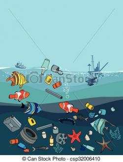 Trash clipart water pollution
