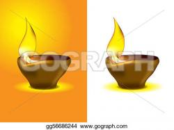 Oil Lamp clipart deepavali celebration