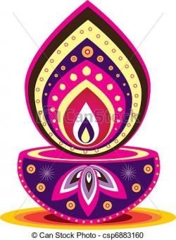 Oil Lamp clipart hindu