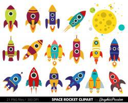 Rocket clipart vintage