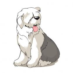 Sheepdog clipart old english sheepdog