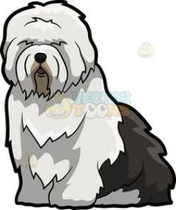 Old English Sheepdog clipart pet sitting