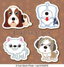 Old English Sheepdog clipart shih tzu