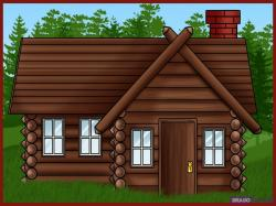 Lodge clipart wooden house