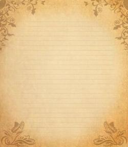 Old Letter clipart blank paper
