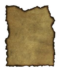 Old Letter clipart burnt paper