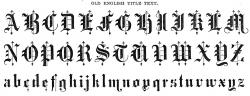 Typeface clipart medieval