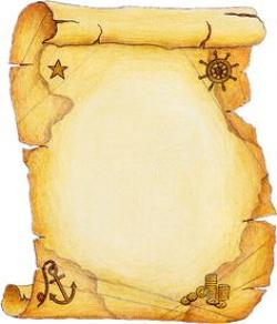 Old Letter clipart treasure chest