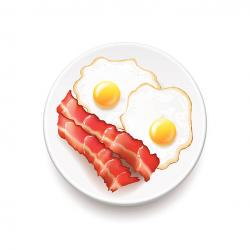 Omelette clipart bacon and egg