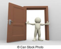 Doorway clipart open door