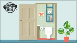 Open Door clipart toilet door