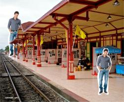 Optical Illusion clipart railway station