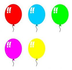 Colouful clipart balloon
