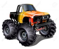 Bigfoot clipart orange monster