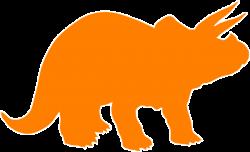 Triceratops clipart orange