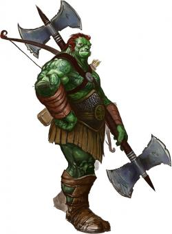 Orc clipart pathfinder rpg