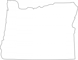 Oregon clipart Oregon Outline