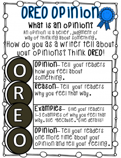 Oreo clipart opinion writing