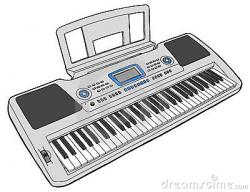 Drawn keyboard clipart
