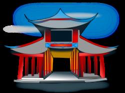 Shrine clipart japan temple