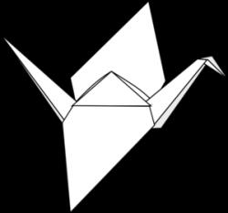 Drawn origami origami crane
