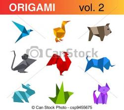 Kingsfisher clipart origami