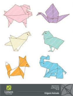 Kingfisher clipart origami