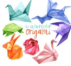 Origami clipart folded paper