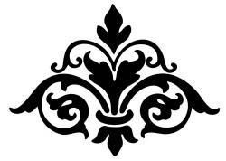 Damask clipart scrollwork