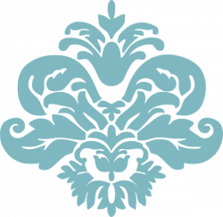 Damask clipart accent