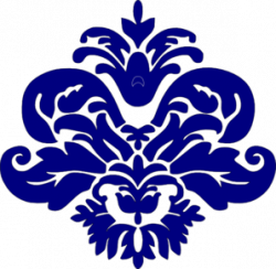 Damask clipart navy