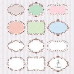 Vignette clipart decorative frame
