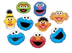 Sesame Street clipart faces