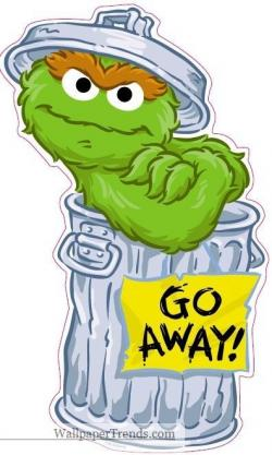Oscar The Grouch clipart sesame street character