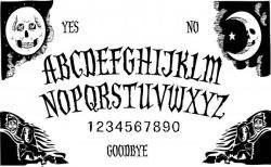 Ouija Board clipart black and white