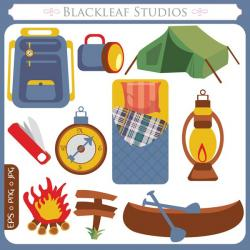 Hiking clipart camping equipment