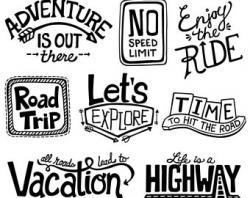 Travel clipart road trip